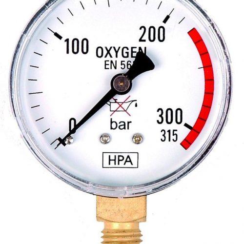 Manometr do tlenu technicznego M63R HPA